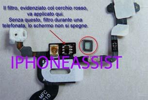 apple iphone 4 filtro sensore di luminosita-grnd