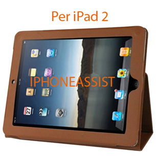 apple ipad 2 high quality leather case with holder
