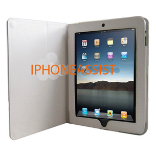 apple ipad high quality leather case with stand