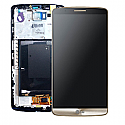 Genuine LG G3 (D855) Complete lcd with digitizer and frame assembly in Gold - LG Part Number- ACQ87190303