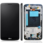 LG D802 Optimus G2 Complete lcd with front cover assembly and touchpad in Black - ACQ8691770