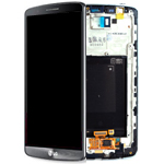 LG G3 (D855) Complete lcd with digitizer and frame assembly in Titanium Black