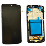 LG Nexus 5 (D820) Complete lcd and digitizer with frame in Black -Earpiece Mesh is White and Side frame is Glossy - (Known as white) Part no- ACQ86661401