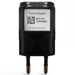 LG USB EU Travel Adaptor in Black for LG G-flex (D955) LG Nexus 4 (E960) LG G2 (D802) EU 2Pin Adaptor - EAY62769002