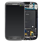 Samsung Galaxy S3 i9300 Titanium Grey LCD Screen : Touch : Front & Frame Complete - GH97-13630F