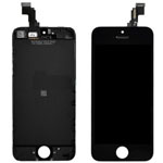 iPhone 5C Lcd Screen with Touchpad and Frame in Black (High Quality)