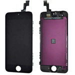 iPhone 5C Lcd Screen with touchpad and frame in black OEM