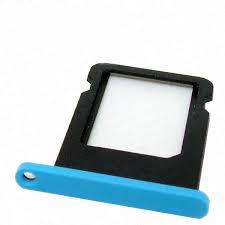 iPhone 5C sim holder blue