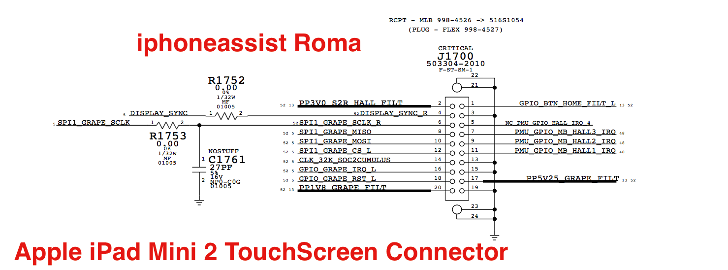 Apple iPad Mini 2 TouchScreen Conector